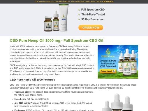 CBD Pure Hemp Oil 1000 | CBD Pure Hemp Oil 1000 Mg