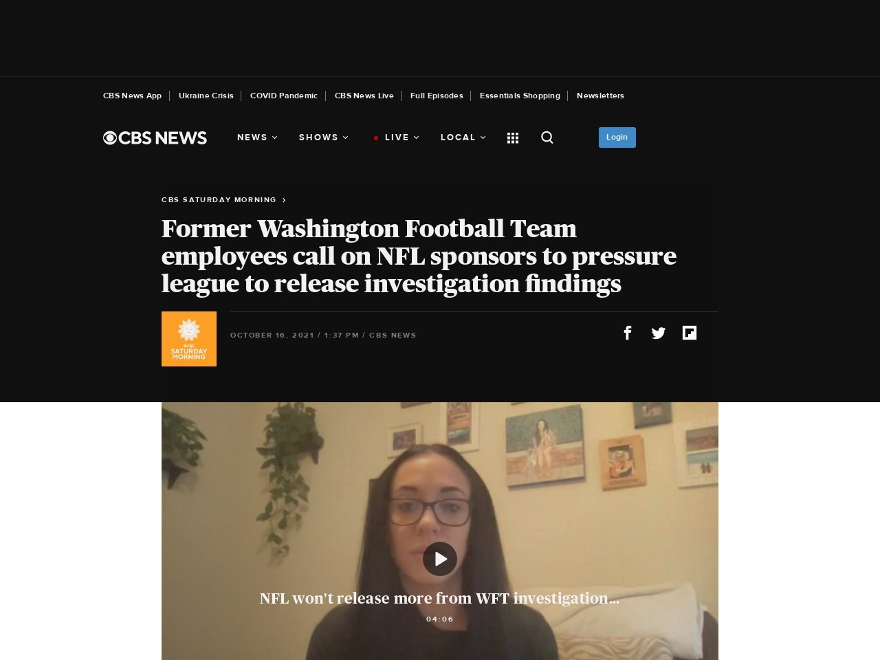 Ex-Washington employees call on NFL sponsors to pressure league to release investigation findings