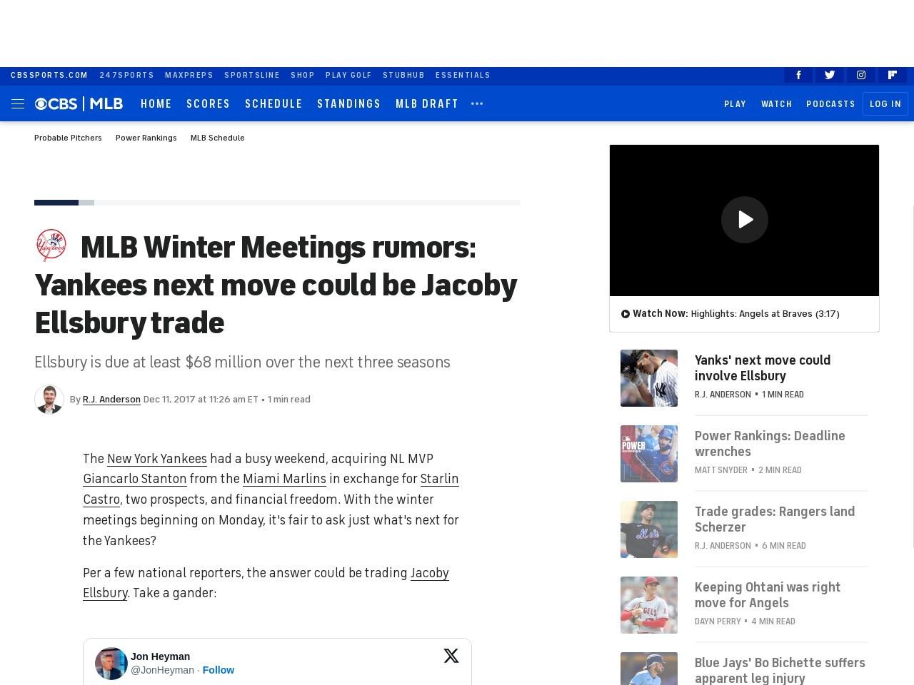 MLB Winter Meetings rumors: Yankees next move could be Jacoby Ellsbury trade