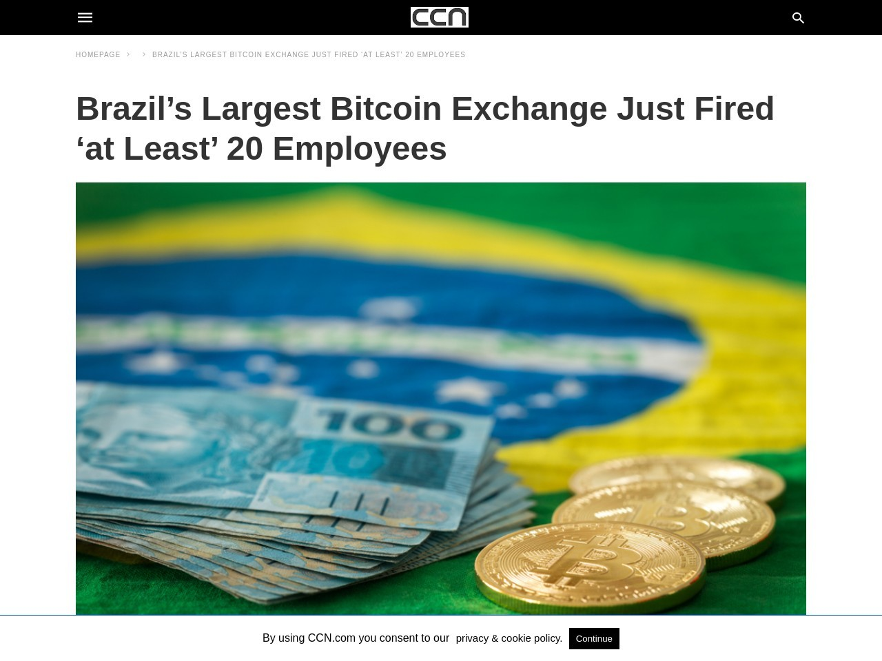 Brazil's Largest Bitcoin Exchange Just Fired 'at Least' 20 Employees