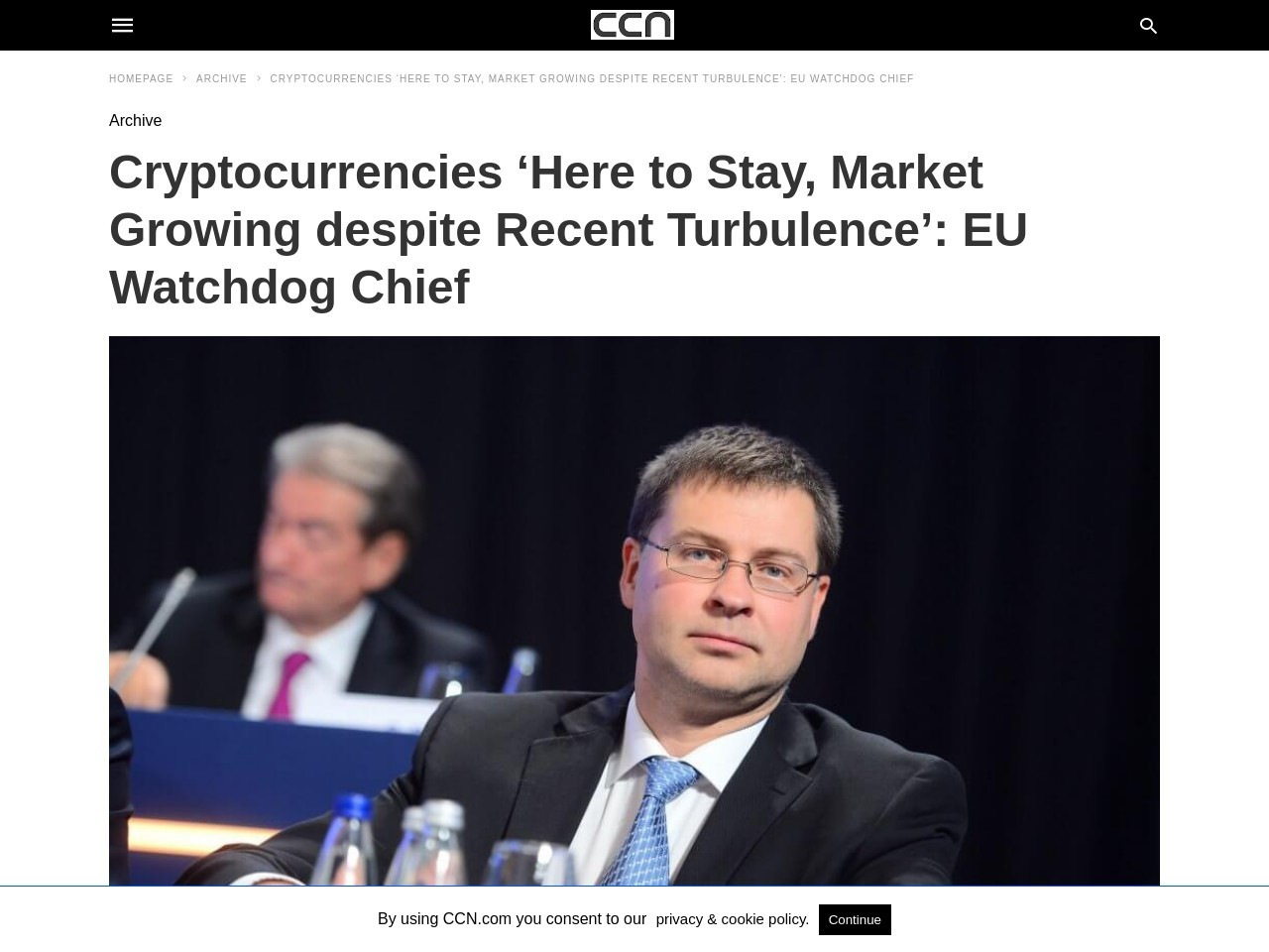 Cryptocurrencies 'Here to Stay, Market Growing despite Recent Turbulence': EU Watchdog Chief