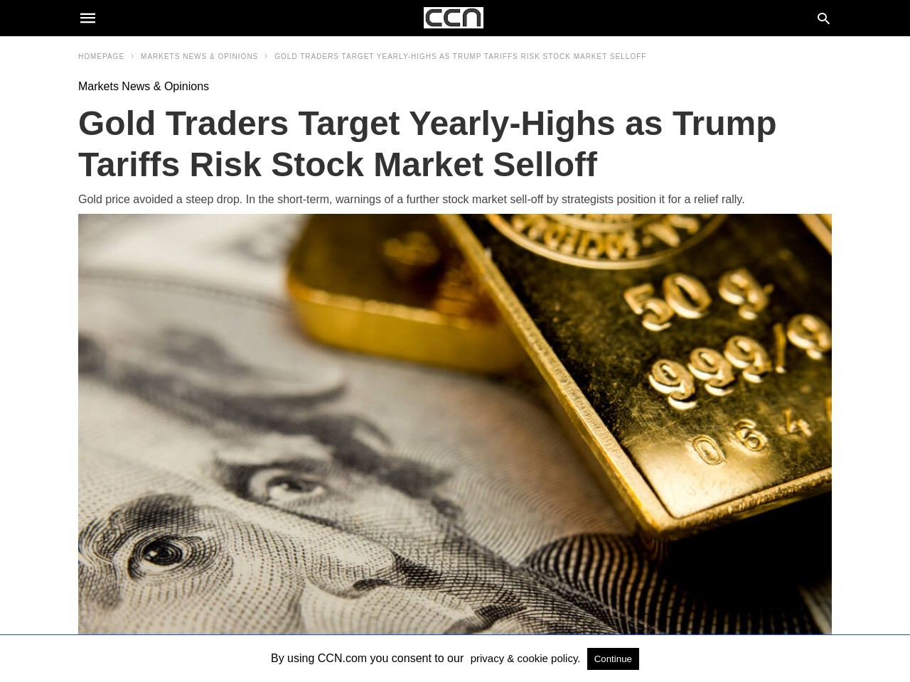 Gold Traders Target Yearly-Highs as Trump Tariffs Risk Stock Market Selloff
