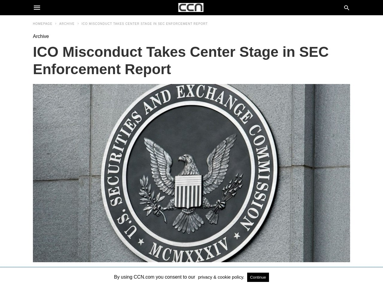 ICO Misconduct Takes Center Stage in SEC Enforcement Report