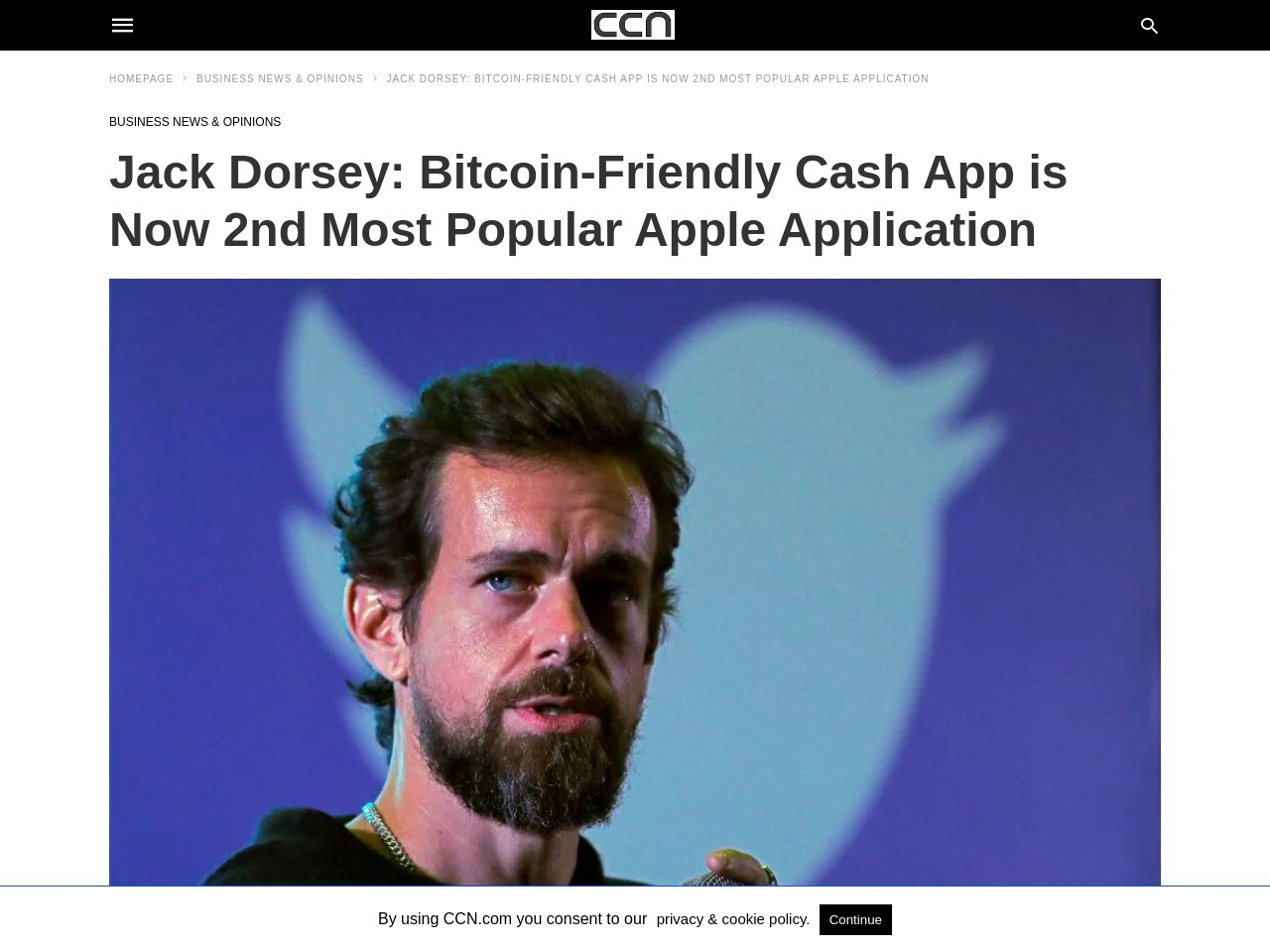 Jack Dorsey: Bitcoin-Friendly Cash App is Now 2nd Most Popular Apple Application