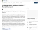 Tempat wisata yang menarik dan populer di Sintang
