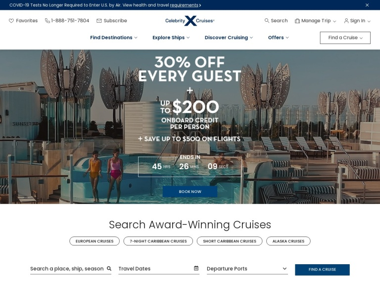 Celebrity Cruises screenshot