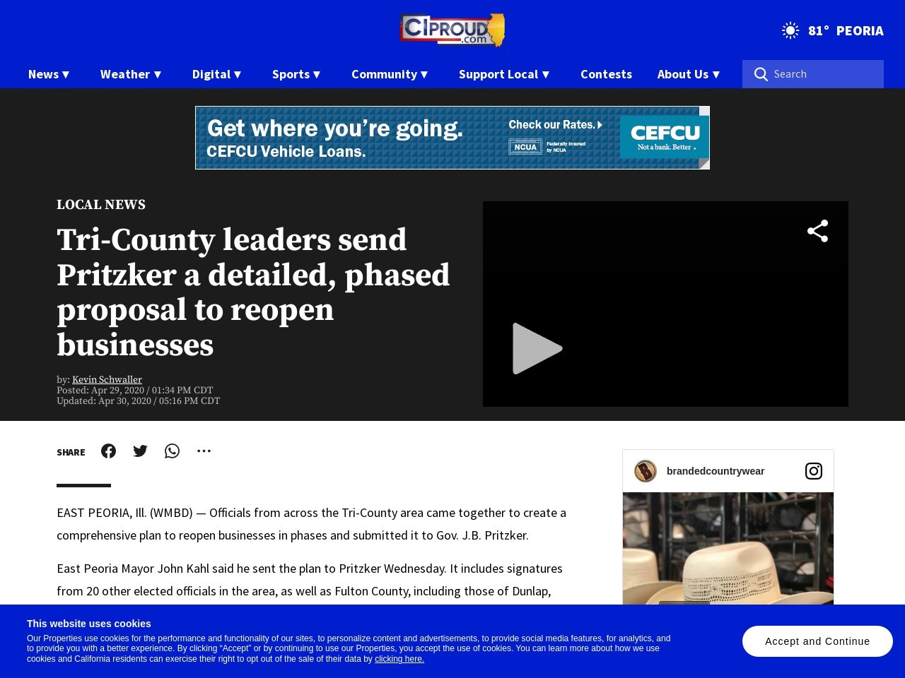 Tri-County leaders send Pritzker a detailed, phased proposal to reopen businesses