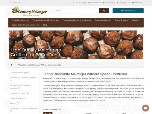 Automatic Chocolate Machine Melangers Cocoa bean grinder Century Melanger