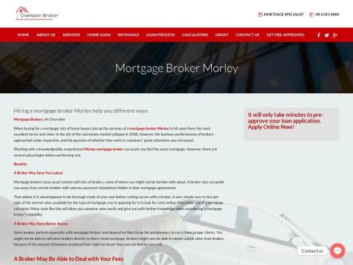 Mortgage Broker Morley   Call Now @ 08 6183 6880