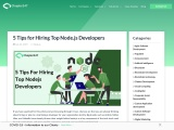 An ultimate guide on how to Hire NodeJS Developer for your project
