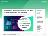Know Why Web Applications Fail And What You Can Do To Improve Them