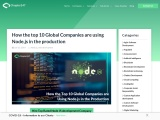 Know why top 10 Global companies are using NodeJS in the Development
