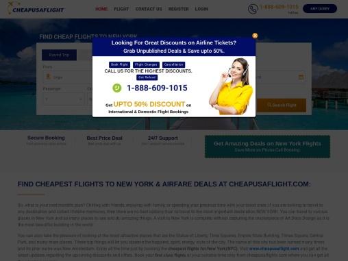 CHEAP FLIGHTS TO NEW YORK (NY)