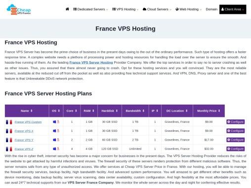 Buy France VPS Hosting From Onlive Server