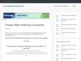 Web Hosting La Puente cheapwebhostingspot.com