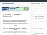 Cheap Web Hosting West Sacramento