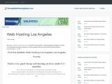 Cheap Web Hosting Los Angeles CA