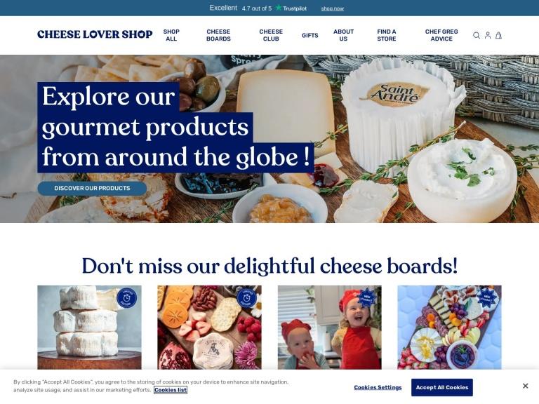 The Cheese Lover Shop screenshot