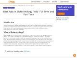 Best Jobs in Biotechnology Field- Full Time and Part-Time