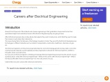 Careers after Electrical Engineering