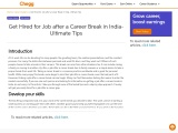 Get Hired for Job after a Career Break in India- Ultimate Tips