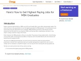 Here's How to Get Highest Paying Jobs for MBA Graduates