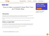 How to make a successful Career Plan?-Here are 8 Simple Ways