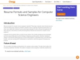 Resume Formats and Samples for Computer Science Engineers