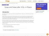 Scope and Career after M.Sc. in Physics