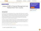 Scope of MBA in Financial Management and Related Short Term Courses
