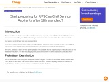 Start preparing for UPSC as Civil Service Aspirants after 12th standard?