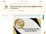 RBI Grade B Officer Exam Dates & Notification