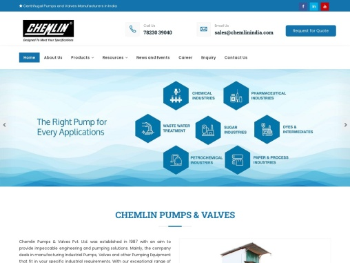 Industrial Pumps Manufacturers In India – Chemlin