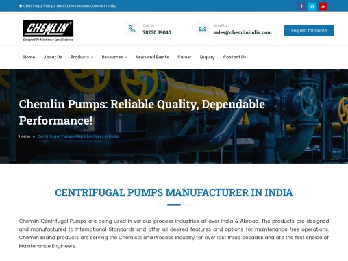 End Suction Pump Manufacturers India – Chemlin