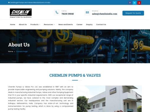 Slurry Pump Manufacturers in India- Chemlin