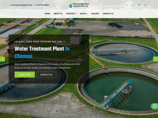 Water treatment plant in Chennai