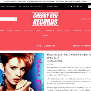 Sheena Easton: The Definitive Singles 1980-1987, 3CD - Cherry Red Records