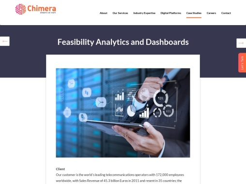 Feasibility Analytics and Dashboards for Telecommunication