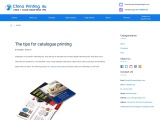 The tips for catalogue printing