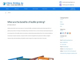 What are the benefits of leaflet printing?