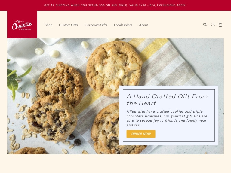 Christie Cookie Co Coupon Codes & Promo codes