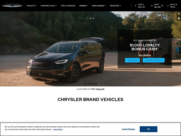Chrysler screenshot