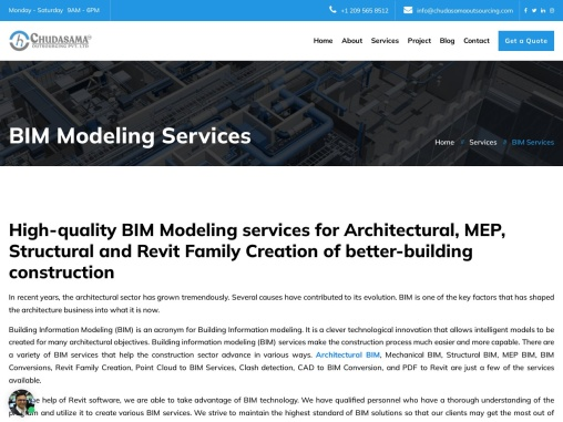 Outsource BIM Modeling Services   Best BIM Models Services – Chudasama Outsourcing