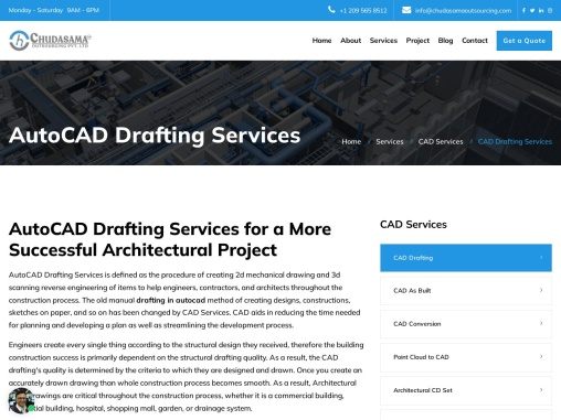Architectural CAD Drafting Services | 2D & 3D AutoCAD Drafting – Chudasama Outsourcing