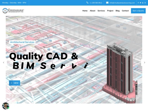 Architectural CAD Drawing and 3D BIM Modeling Services – Chudasama Outsourcing