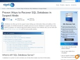 How to Recover SQL Database in Suspect Mode?