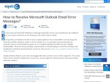 How to Resolve Microsoft Outlook Email Error Messages?
