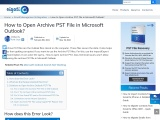 Know how to Archive PST file in Microsoft Outlook in some easy steps