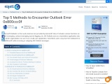 Know the basic Top 5 Methods to Encounter Outlook Error 0x800ccc0f