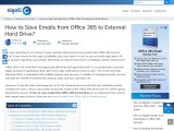 How to Save Emails from Office 365 to External Hard Drive?